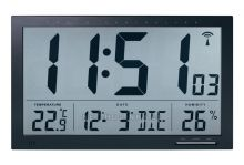 Digitální nástěnné hodiny průmyslové na stěnu s teploměrem