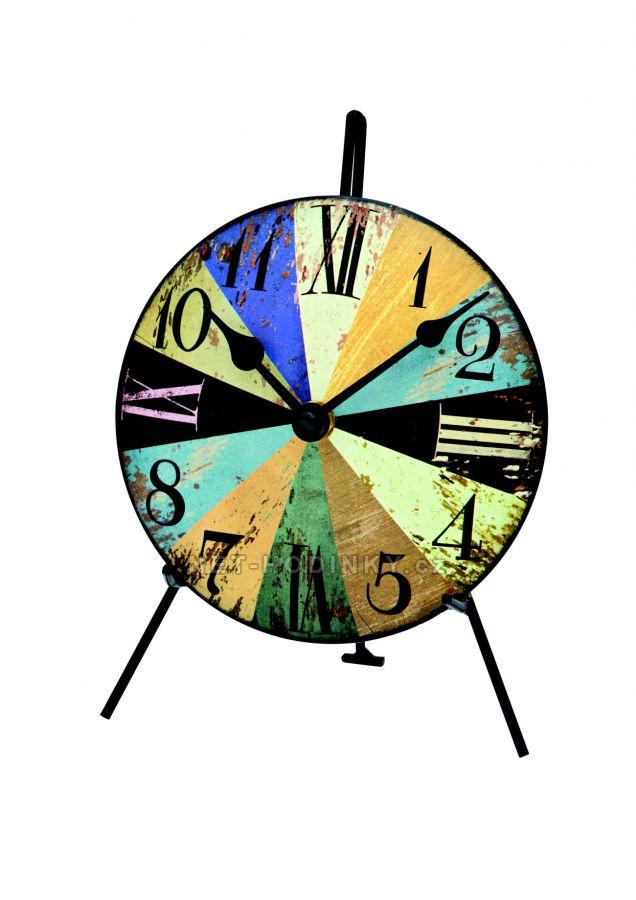 Kovové stolní hodiny AMS 1164