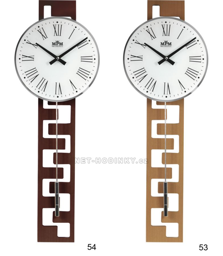 E05.3186 kyvadlové dřevěné hodiny bateriové