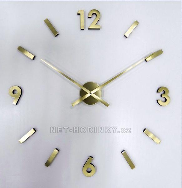 JVD Nalepovací hodiny na zeď zlatá HW53.7.1 zlatá