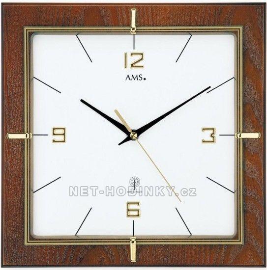 Nástěnné hodiny AMS 5834 řízené rádiem
