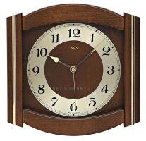 Nástěnné hodiny AMS 5822/1 ořech, AMS 5822/4 dub, AMS 5822/18 buk rádiem řízené