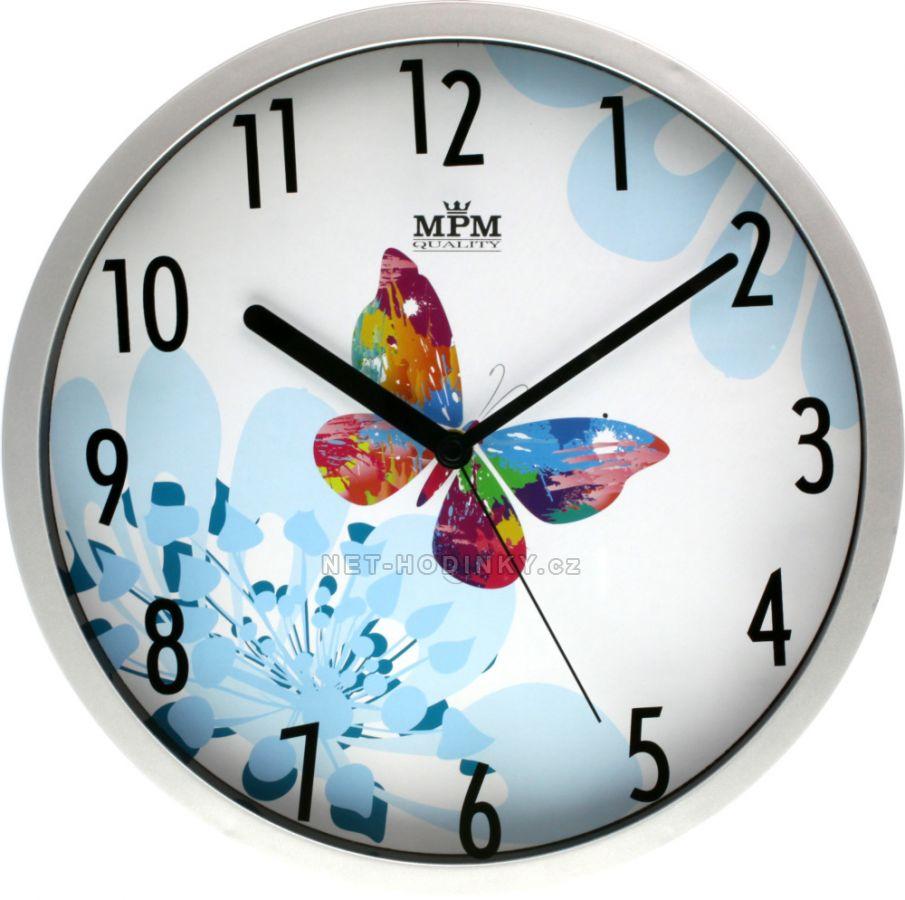 Nástěnné hodiny na stěnu, hodiny na zeď do kuchyně velké hodiny motýl