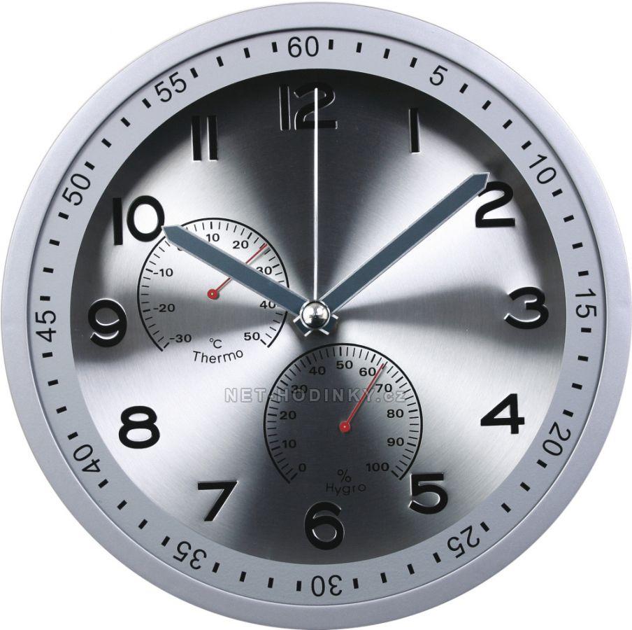 Nástěnné hodiny na stěnu, hodiny na zeď do kuchyně velké stříbrná