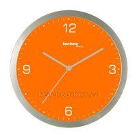 Nástěnné hodiny techno Line oranžová, modrá, fialová