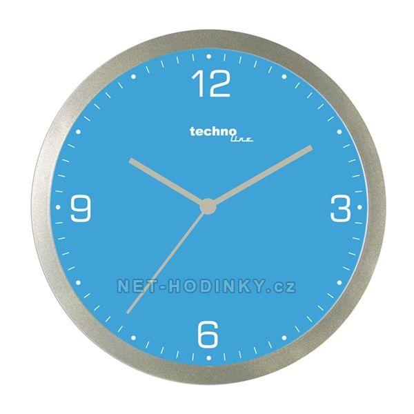 Nástěnné hodiny na stěnu, nástěnné hodiny na zeď modrá