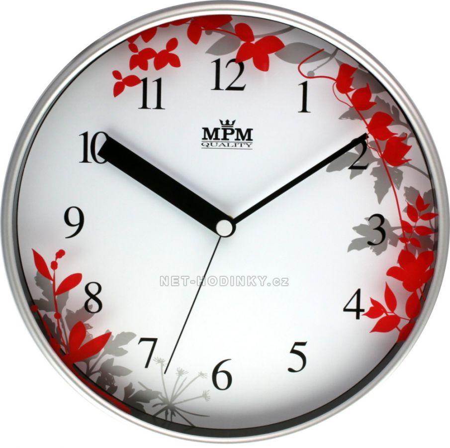 Nástěnné hodiny Nástěnné hodiny na zeď, hodiny do kuchyně velké - červená skladem ihned Nástěnné hodiny