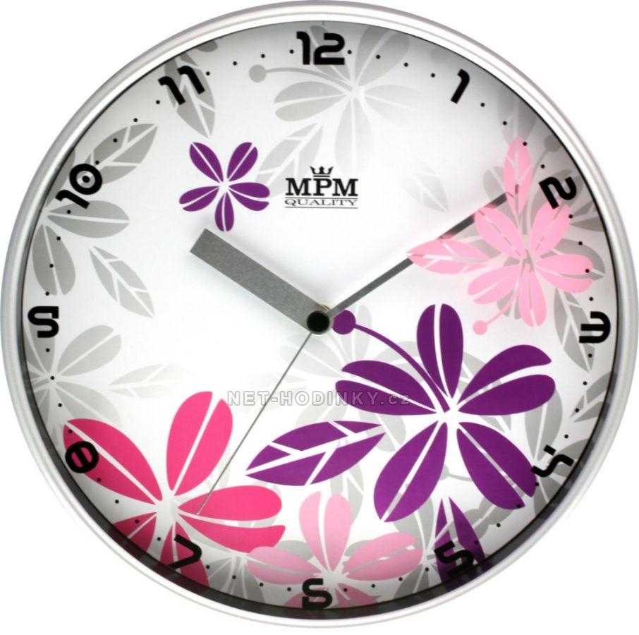 Nástěnné hodiny na zeď, hodiny do kuchyně velké růžová