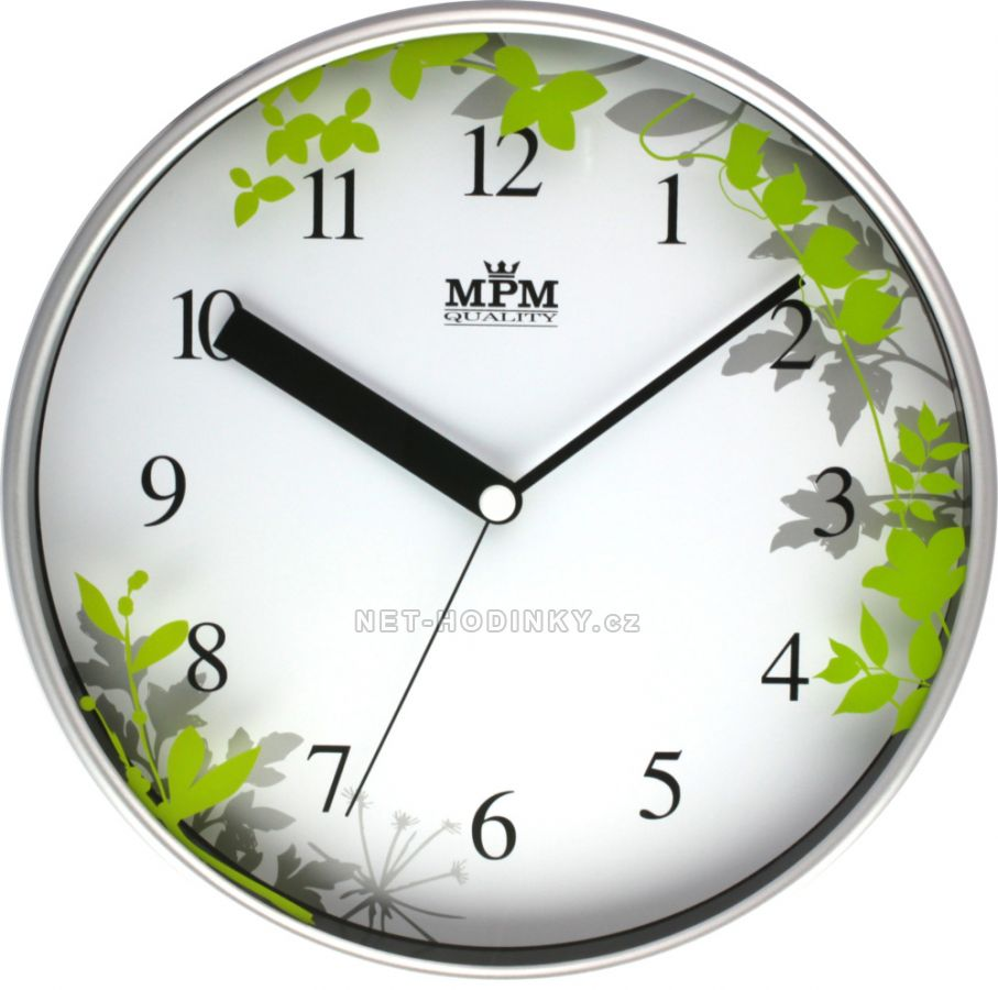 Nástěnné hodiny na zeď, hodiny do kuchyně velké zelená