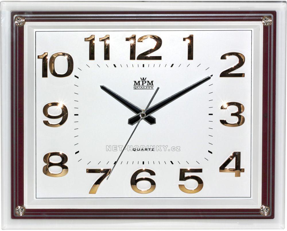 Nástěnné hodiny na zeď velké, hodiny do kuchyně hnědá/bílá