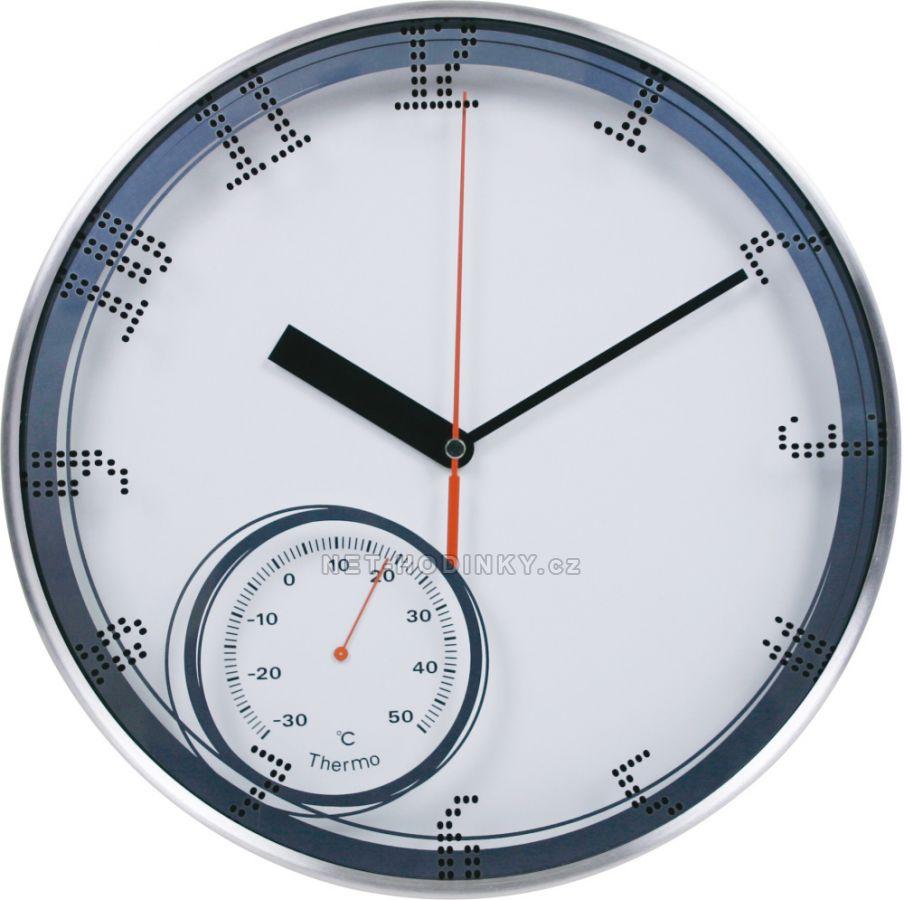 Nástěnné hodiny na zeď, hodiny na stěnu kovové bílá
