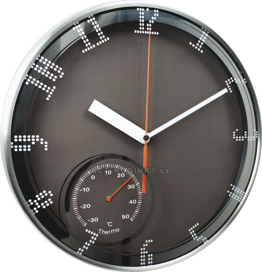 Nástěnné hodiny na zeď, hodiny na stěnu kovové černá