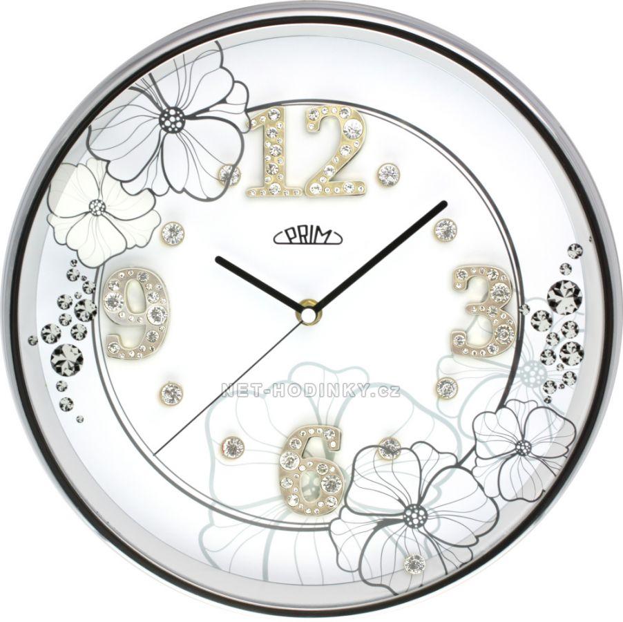 Nástěnné hodiny luxusní na zeď, hodiny na stěnu kovové stříbrná