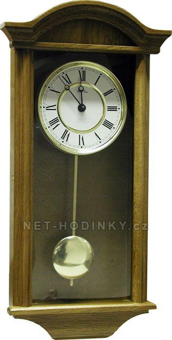 Nástěnné hodiny Quartzové kyvadlové hodiny AMS 990/1 ořech, 990/4 dub, 990/16 olše - AMS 990/4 barva dub Nástěnné hodiny