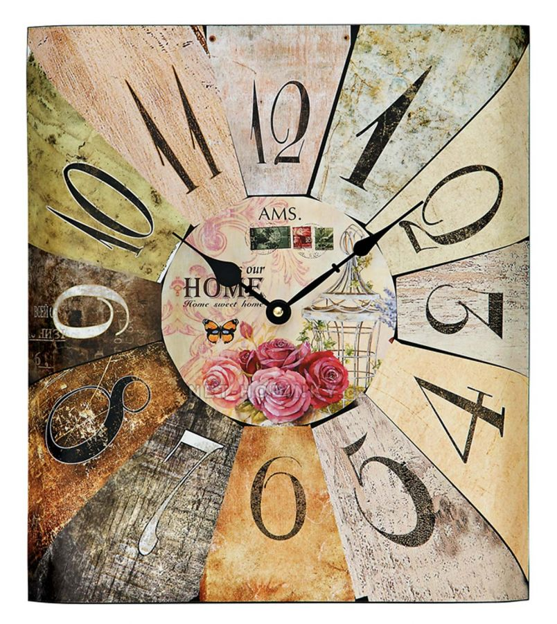 Retro designové nástěnné hodiny AMS 9460