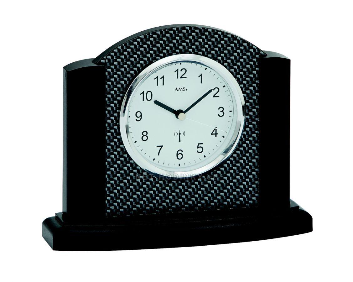 Stolní hodiny AMS 5123/11, AMS 5123/18 ze dřeva AMS 5123/11 černý dub