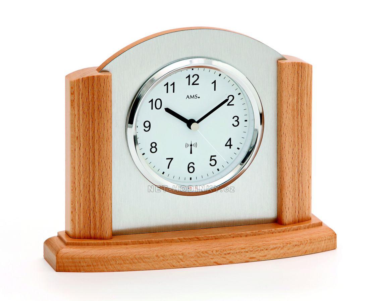 Stolní hodiny AMS 5123/11, AMS 5123/18 ze dřeva AMS 5123/18 buk