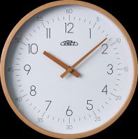 """Nástěnné hodiny PRIM Forest uspokojí každého, kdo má rád jednoduchý design a přírodní materiály. Název této kolekce """"PRIM Forest"""" napovídá, že tyto hodiny mají rámvyroben z p"""