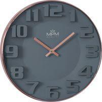Nadčasové moderní hodinyMPM, které se hodí do každého moderního prostoru. Stylová a trendy rose gold barva do tvého bytu..01480