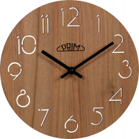 Dřevěné hodiny PRIM Natural kulaté E01P.3942.50 IHNED