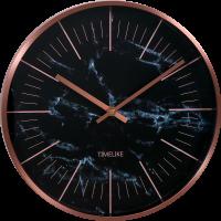 Kovové nástěnné hodiny v moderní rose barvě..01493