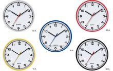 nástěnné hodiny kulaté červená barva