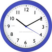Nástěnné hodiny plastové kulaté HC2011.1 modrá