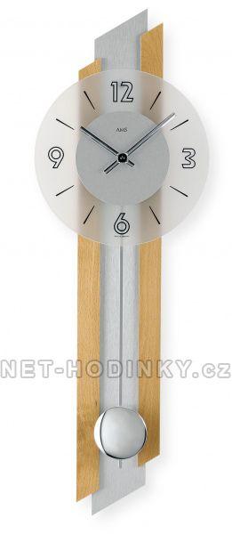 Kyvadlové hodiny AMS 7207/18, 7207/1 AMS 7216/18 masivní buk s hliníkovou vložkou