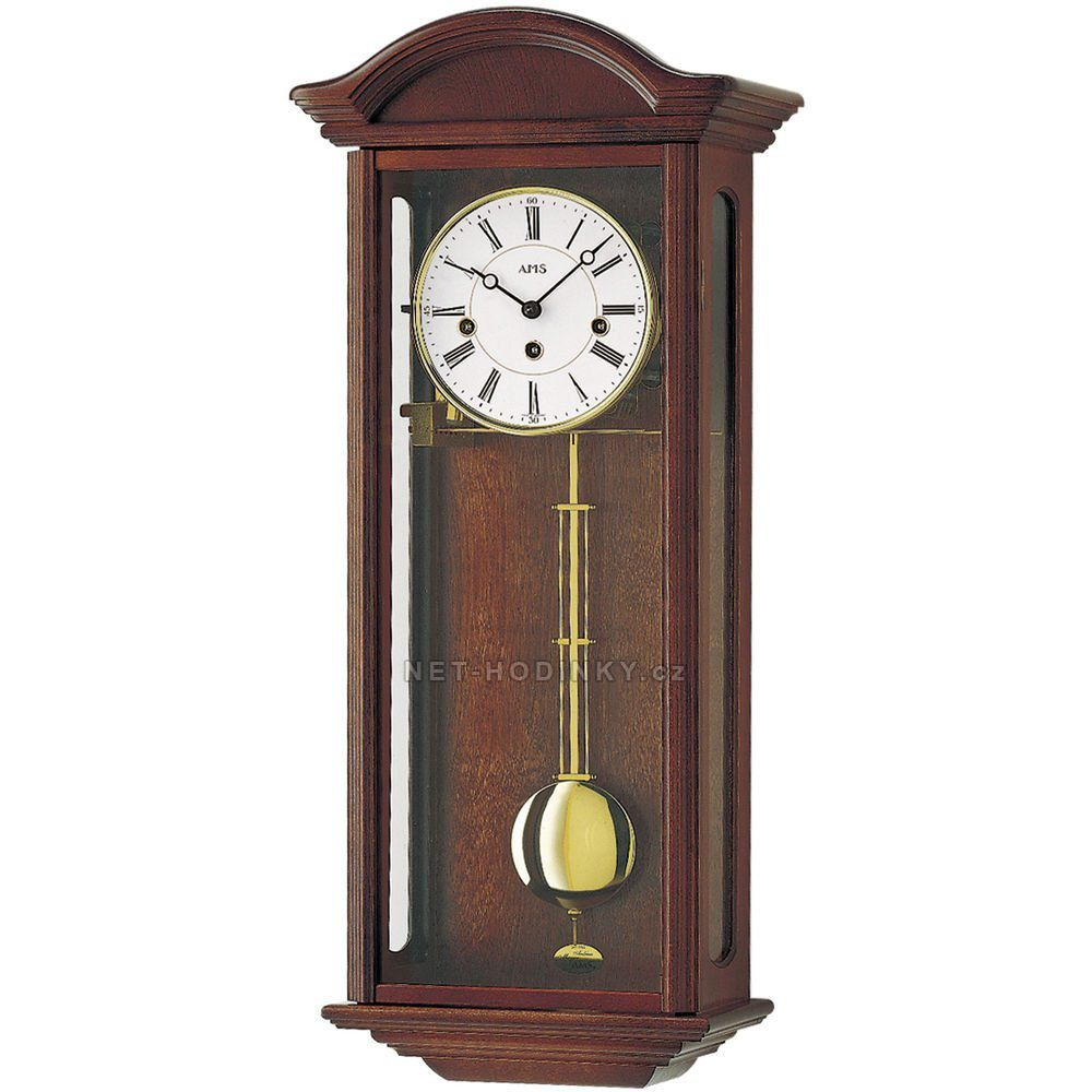 Mechanické kyvadlové hodiny AMS 2606/4 dub, 2606/1 ořech, pendlovky AMS 2606/1 ořech
