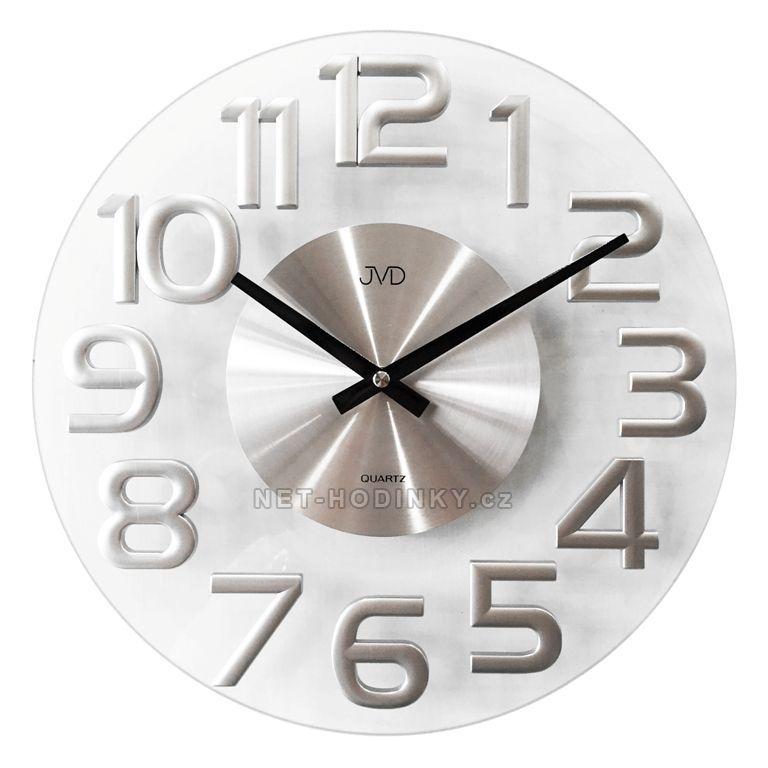 JVD Nástěnné hodiny na stěnu, nástěnné hodiny na zeď HT098 stříbrná