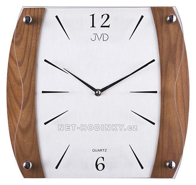 JVD Nástěnné hodiny na stěnu, nástěnné hodiny na zeď NS sweep 11027.11.8 ořech