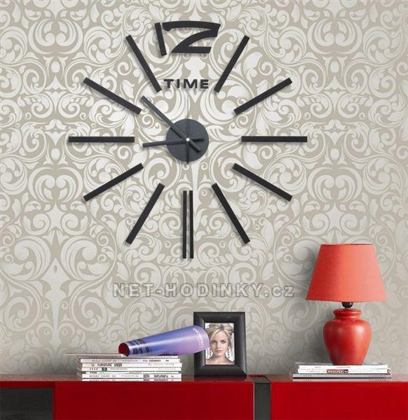 Nástěnné hodiny na stěnu nalepovací, nástěnné hodiny samolepící na zeď Nástěnné nalepovací hodiny 1