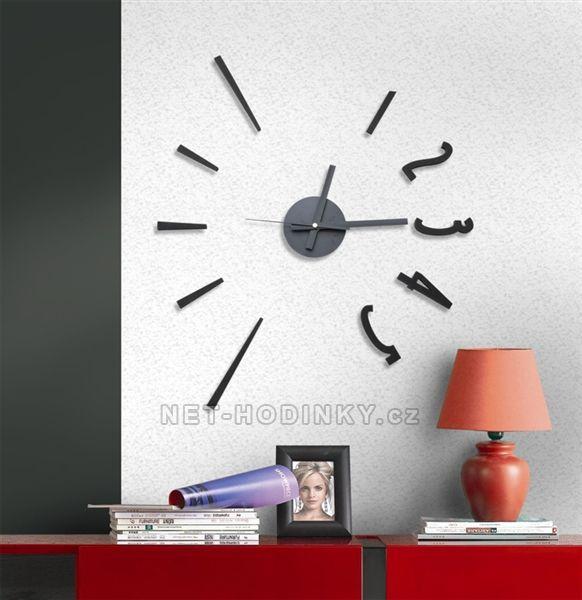 Nástěnné hodiny na stěnu nalepovací, nástěnné hodiny samolepící na zeď Nástěnné nalepovací hodiny 2