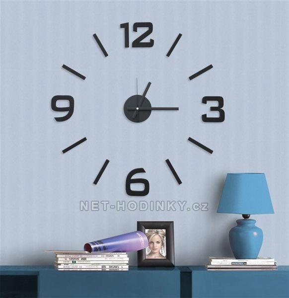 Nástěnné hodiny na stěnu nalepovací, nástěnné hodiny samolepící na zeď Nástěnné nalepovací hodiny 3