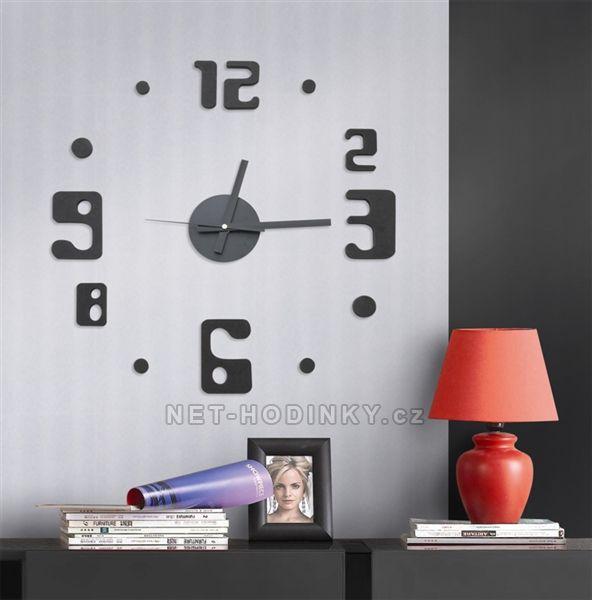Nástěnné hodiny na stěnu nalepovací, nástěnné hodiny samolepící na zeď Nástěnné nalepovací hodiny 4