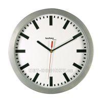 nástěné hodiny bateriové stříbrná