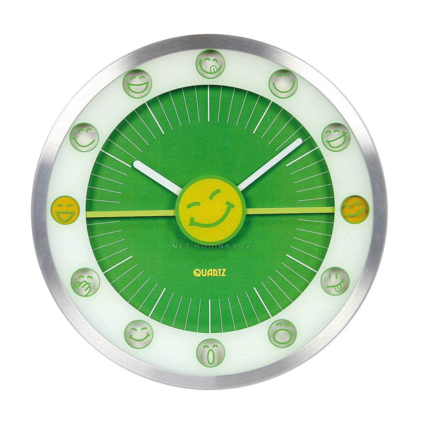 Nástěnné hodiny na stěnu, nástěnné hodiny na zeď, dětské hodiny HDA9008 zelená