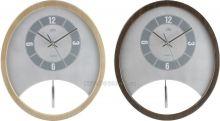Kyvadlové hodiny Quartz dřevěné E01.2516.8 tm. hnědá