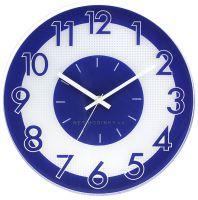 Nástěnné hodiny plastové kulaté E01.3234 s tichým chodem