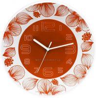 Nástěnné hodiny plastové kulaté E01.3227 s tichým chodem