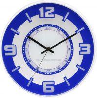 Nástěnné hodiny plastové kulaté E01.3220 s tichým chodem