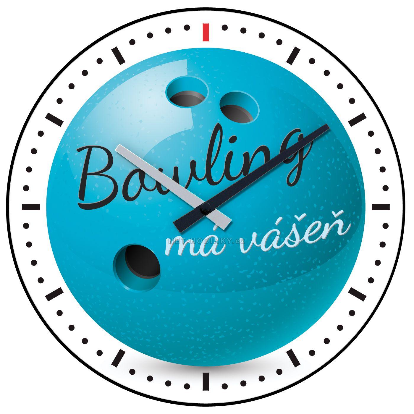 Nástěnné hodiny na stěnu Volleyball, Bowling, Basketbal, Fotbal, Golf nástěnné hodiny na zeď, dětské hodiny H701O Bowling