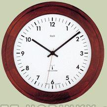 Nástěnné hodiny dřevěné rádiem řízený čas na zeď 4128.7 RC - dub