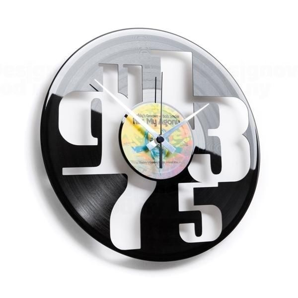 Moderní designové hodiny z gramofonové desky Discoclock 055 Čísla