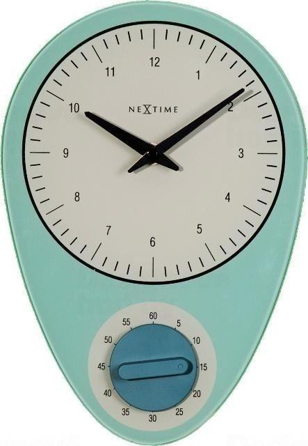 NeXtime Designové nástěnné hodiny 3097bl Nextime Hans 28cm