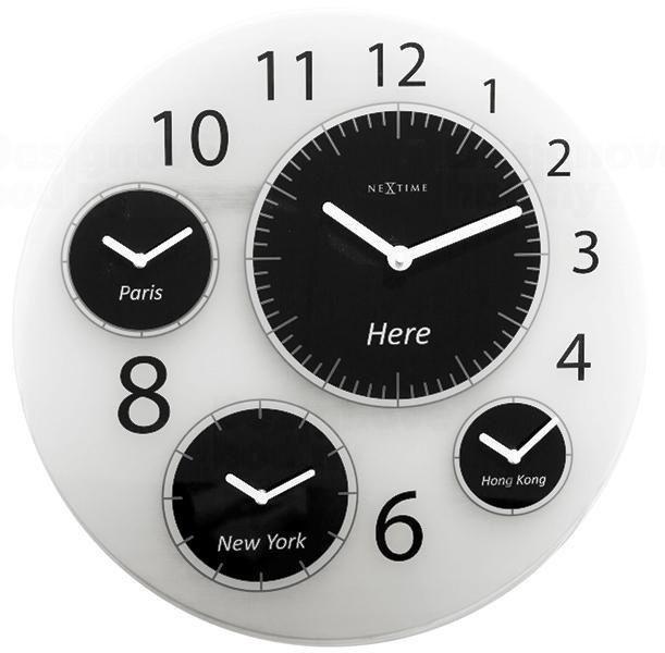 NeXtime Designové nástěnné hodiny 3101 Nextime Big World 52cm