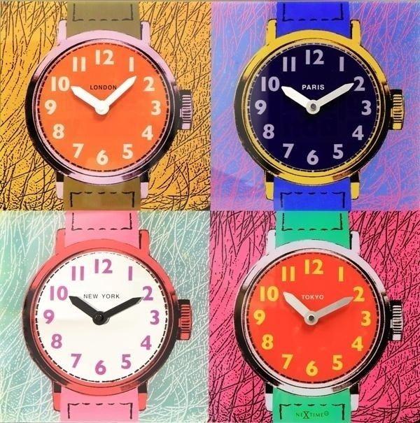 NeXtime Moderní designové nástěnné hodiny značky Nextime TIME ZONES 8158