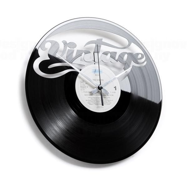 Moderní designové hodiny z gramofonové desky Discoclock 058 motiv VINTAGE