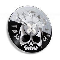 Designové nástěnné hodiny Discoclock 059 Lebka 30cm