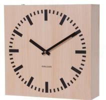 Oboustranné nástěnné hodiny Karlsson 5528 natur 30cm